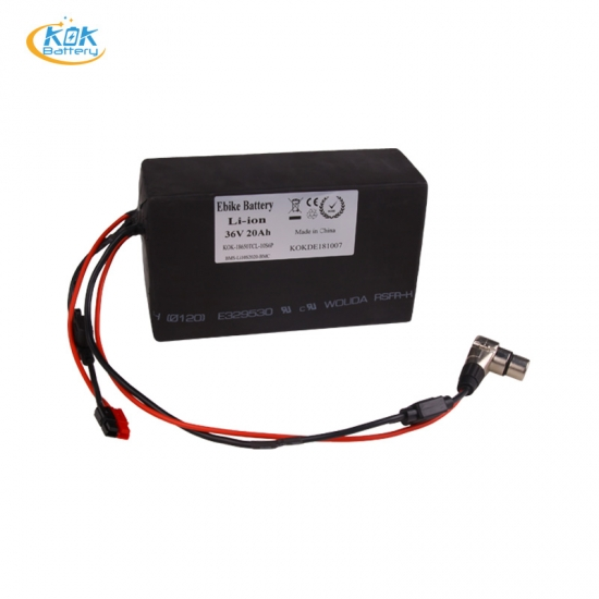 Buy Factory Price KOK POWER bike 36v 20ah lithium battery PE waterproof battery pack