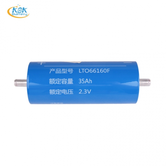 Buy Factory Price 2.3V 35Ah LTO Battery Lithium Titanate Oxide Battery 2.4V LTO Cylindrical 66160 for Solar Energy Storage Inverter Battery