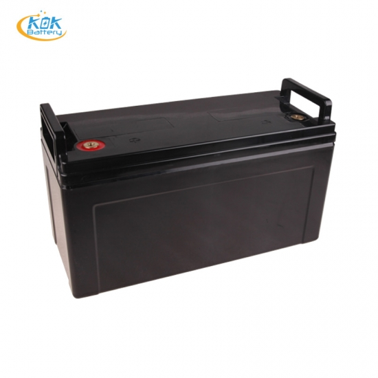 Buy Factory Price KOK POWER Customize LiFePO4 12V120Ah Lithium Battery Solar Energy Storge Marine EV RV Starting and storage Battery