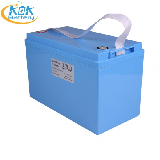 Buy Factory Price KOK POWER 100Ah 12V Rv Motorhomes Marine Boat Golf Cart LiFePO4 Battery