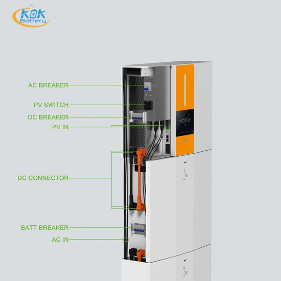 Buy Factory Price KOK 7.92kwh 15.84KWH 48V165AH All In One Solar Energy Battery 5.5KW Inverter