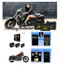 Motorcycle Start Battery with Bluetooth APP