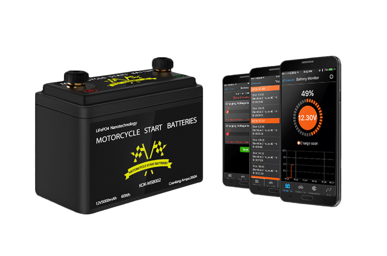 The World's 1st Motorcycle Battery with Bluetooth 4.0 Display